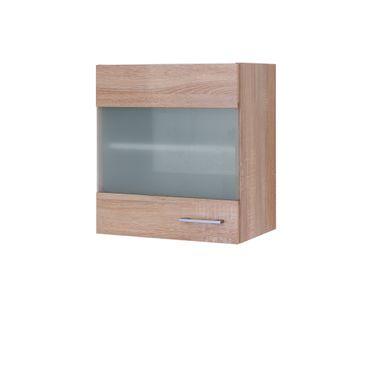 Küchen-Glashängeschrank ROM - 1-türig - 50 cm breit - Eiche Sonoma