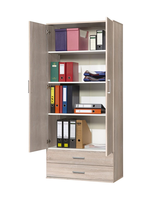 universalschrank ronny mehrzweckschrank system 2 t rig 2 schubladen eiche sonoma wohnen. Black Bedroom Furniture Sets. Home Design Ideas