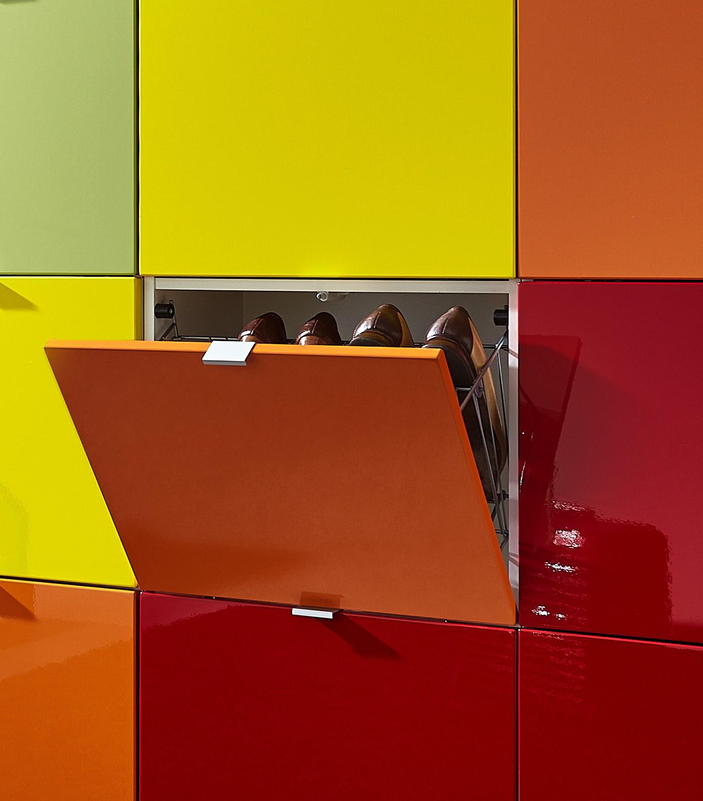 schuhschrank wand potpourri bunter schuhkipper bis zu 64 paar schuhe vielfarbig ebay. Black Bedroom Furniture Sets. Home Design Ideas