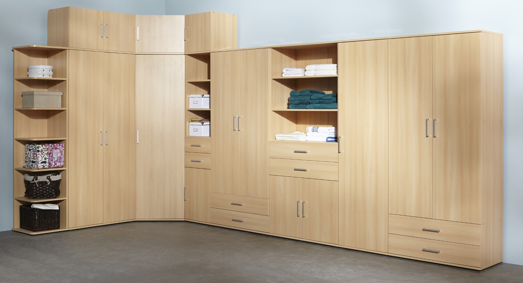 aufbewahrungsschrank mehrzweckschrank ronny hochschrank 40cm buche ebay. Black Bedroom Furniture Sets. Home Design Ideas
