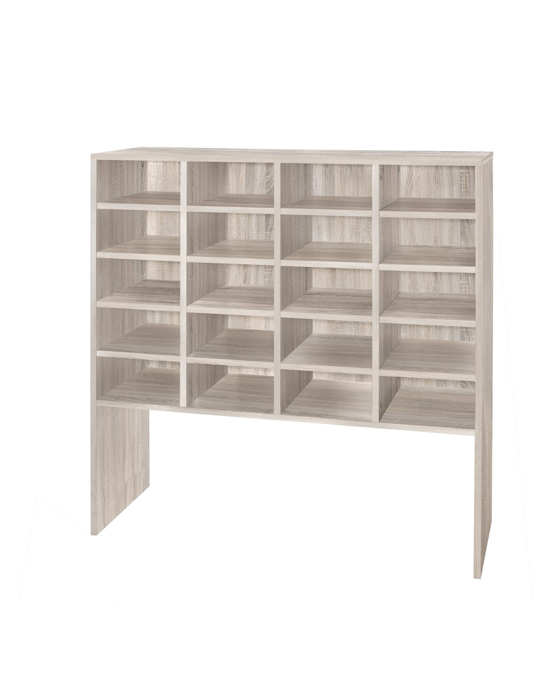 schuh regal emmy f r bis zu 20 paar schuhe eiche. Black Bedroom Furniture Sets. Home Design Ideas