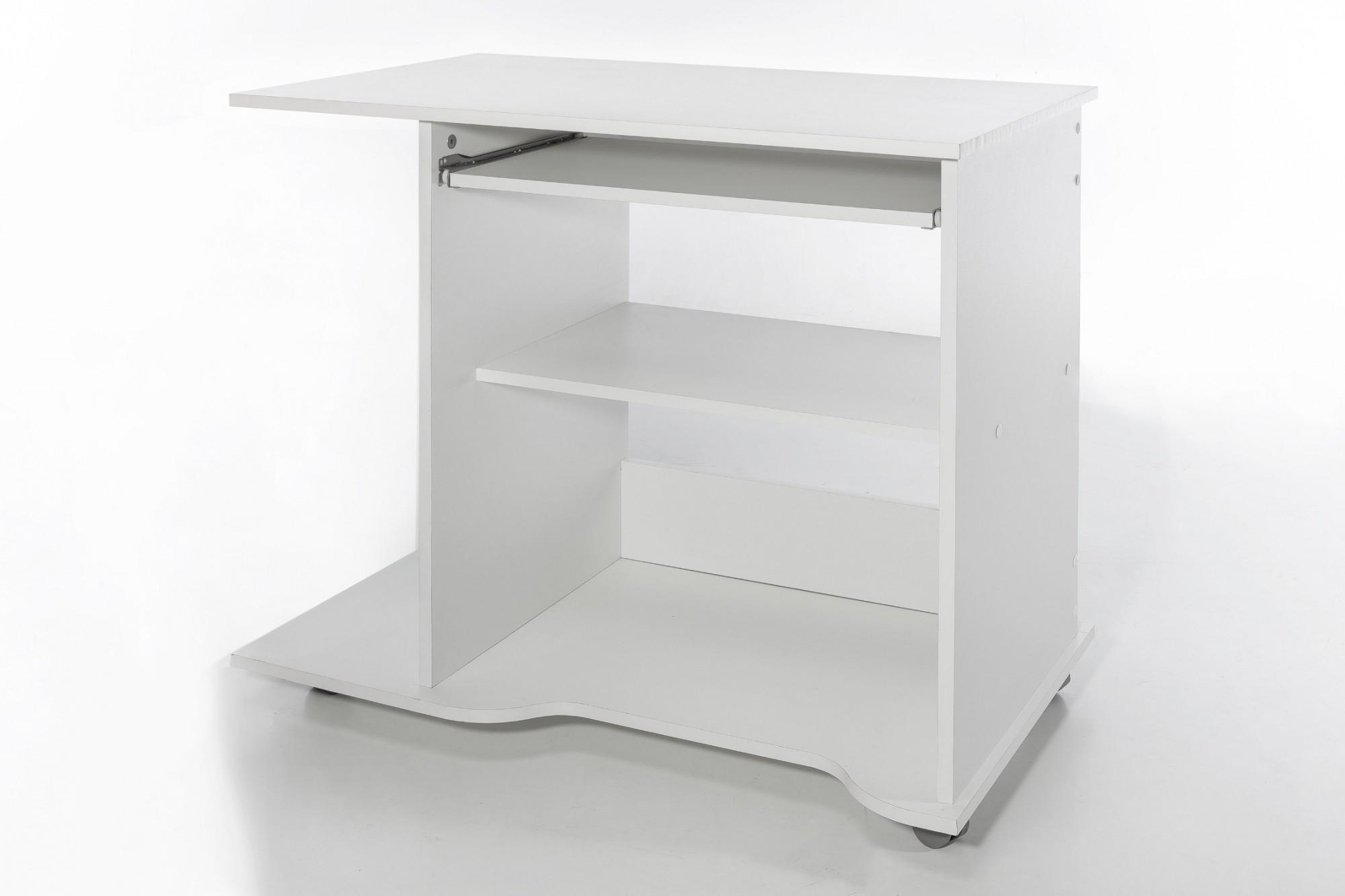pc schreibtisch tom 80 cm breite wei wohnen schreibtische. Black Bedroom Furniture Sets. Home Design Ideas