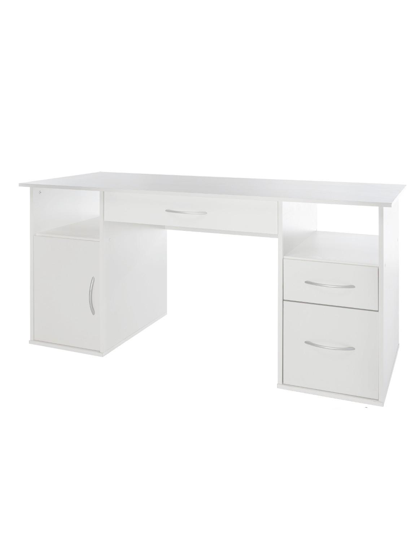 Schreibtisch tom 145 cm breit wei wohnen schreibtische for Schreibtisch 40 cm breit