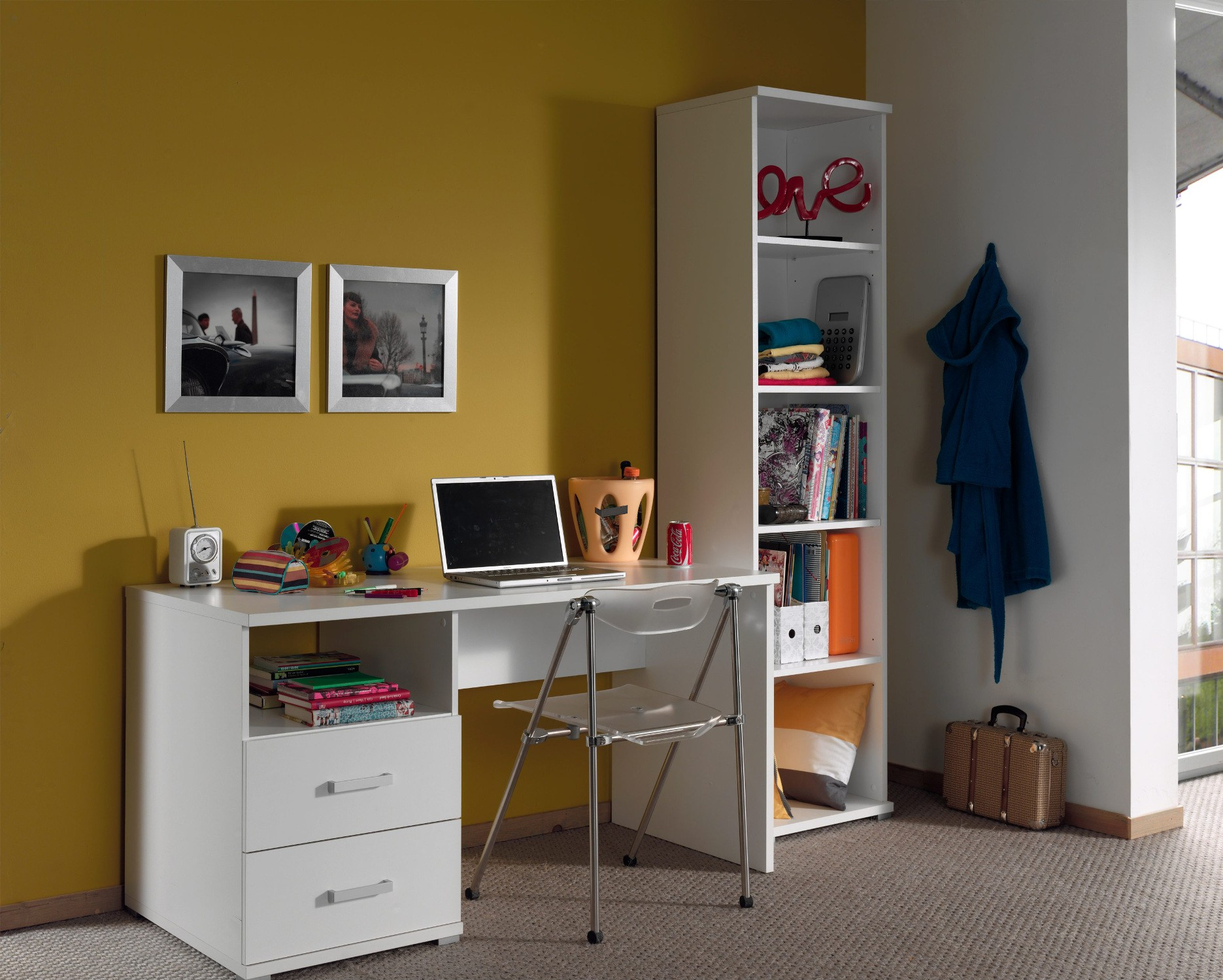 Fabelhaft Regal Schreibtisch Das Beste Von Jugendzimmer Milan - Komplett Mit Und