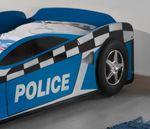 Autobett POLICE  - Liegefläche 70 x 140 cm - Blau