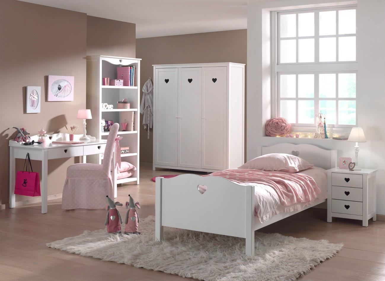 Kinderzimmer Komplett Madchen Bett Nachttisch Kleiderschrank