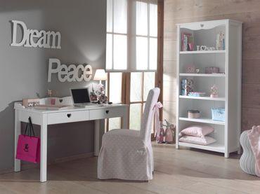 Jugendzimmer AMORI - komplett mit Schreibtisch und Regal