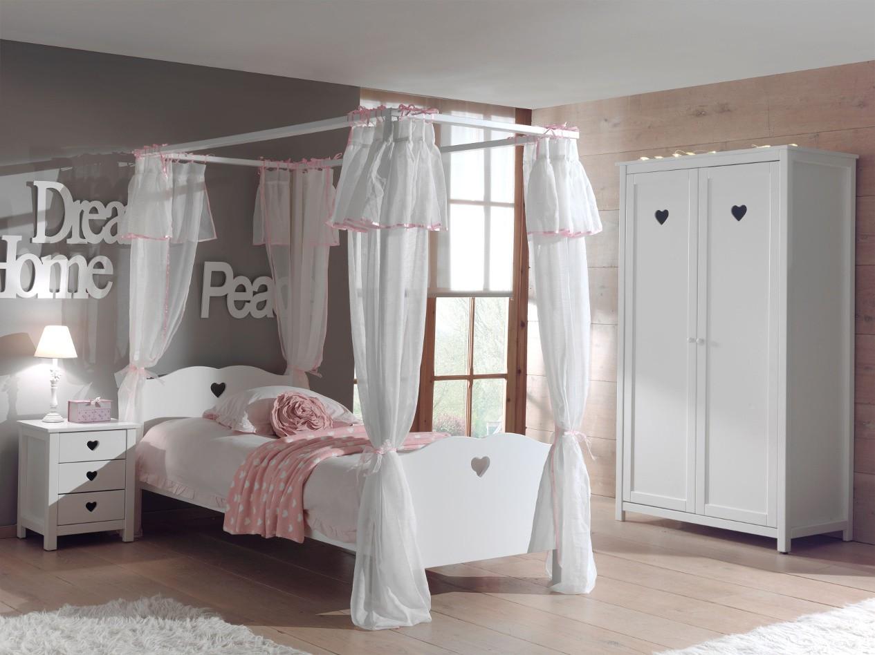 Jugendzimmer Amori Komplett Mit Himmelbett Vorhangen