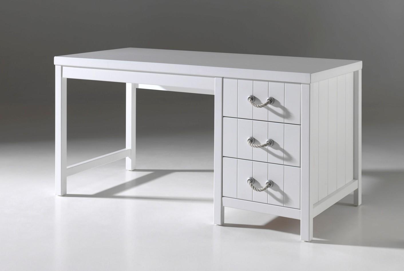 schreibtisch lewis 3 schubladen wei kinder jugendzimmer schreibtische. Black Bedroom Furniture Sets. Home Design Ideas