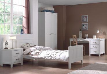 Jugendzimmer LEWIS - komplett mit Einzelbett, Kleiderschrank 2-türig, Schreibtisch und Nachtkonsole