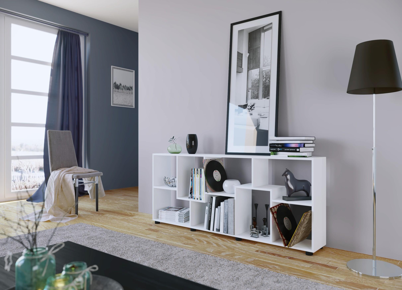 regal pisa 8 f cher wei wohnen regale. Black Bedroom Furniture Sets. Home Design Ideas