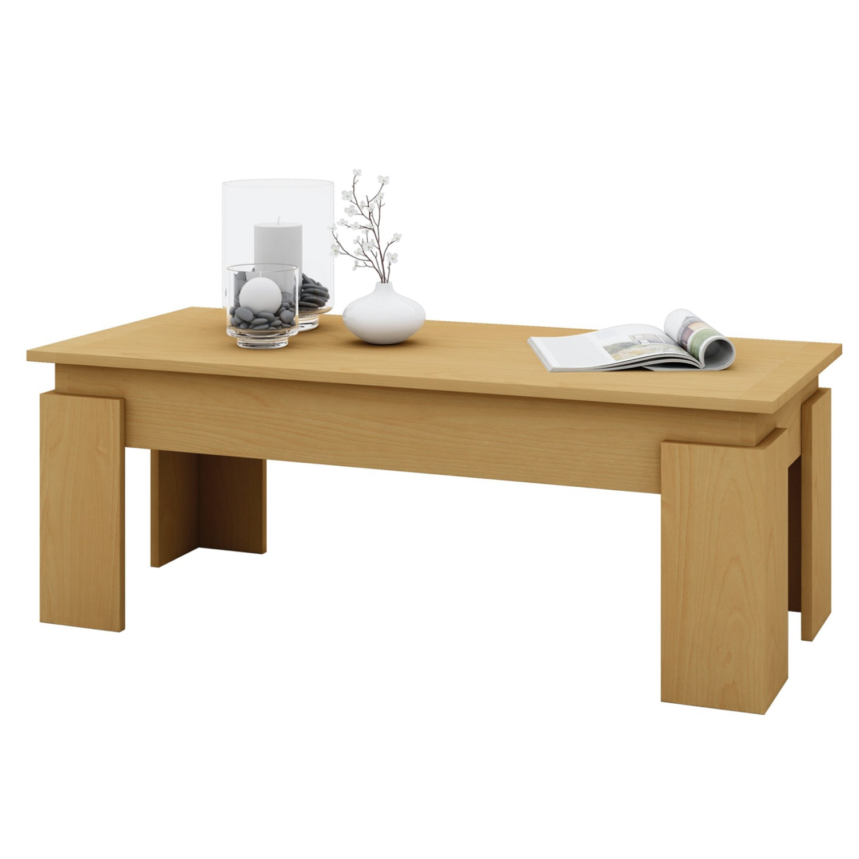 Couchtisch otis tischplatte 110 x 50 cm buche wohnen for Couchtisch 50 cm