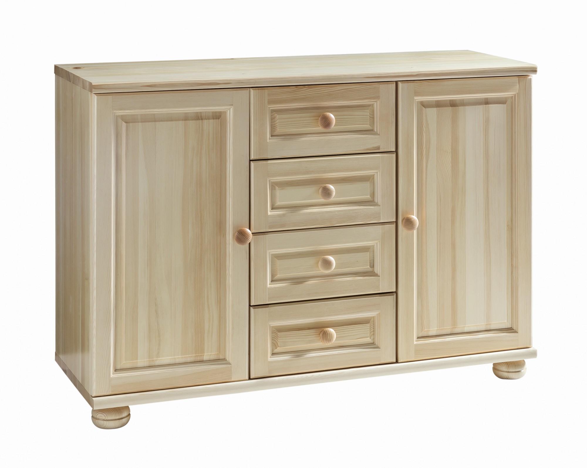 kommode vienna sideboard schrank 2 t ren 4 schubladen 120. Black Bedroom Furniture Sets. Home Design Ideas