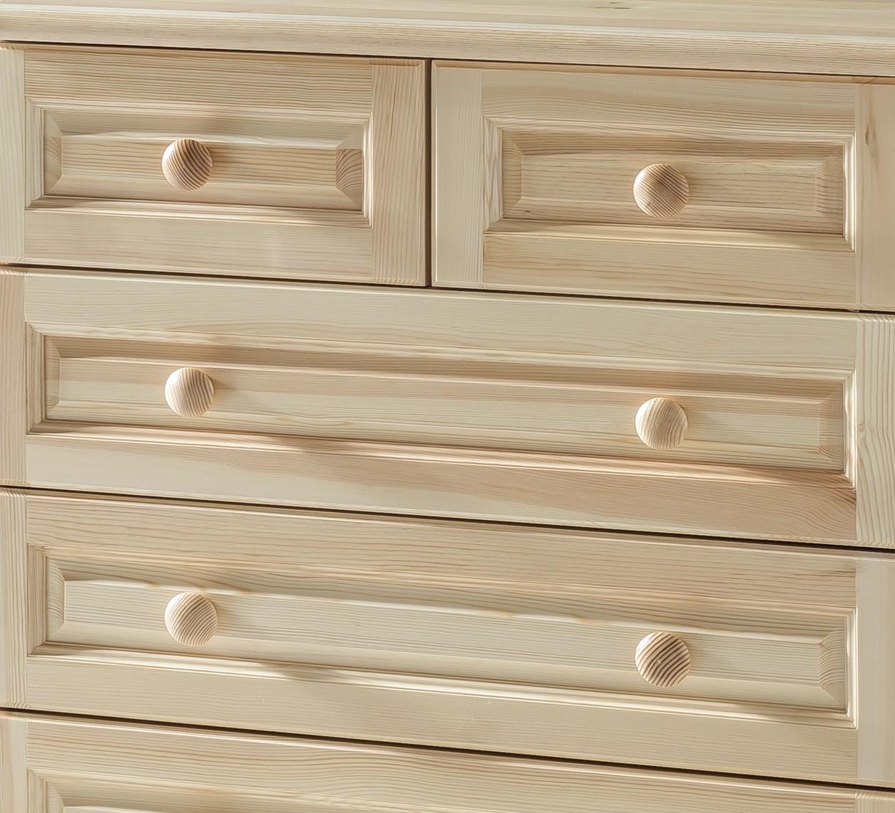kommode vienna highboard schrank 5 schubk sten 80 cm. Black Bedroom Furniture Sets. Home Design Ideas