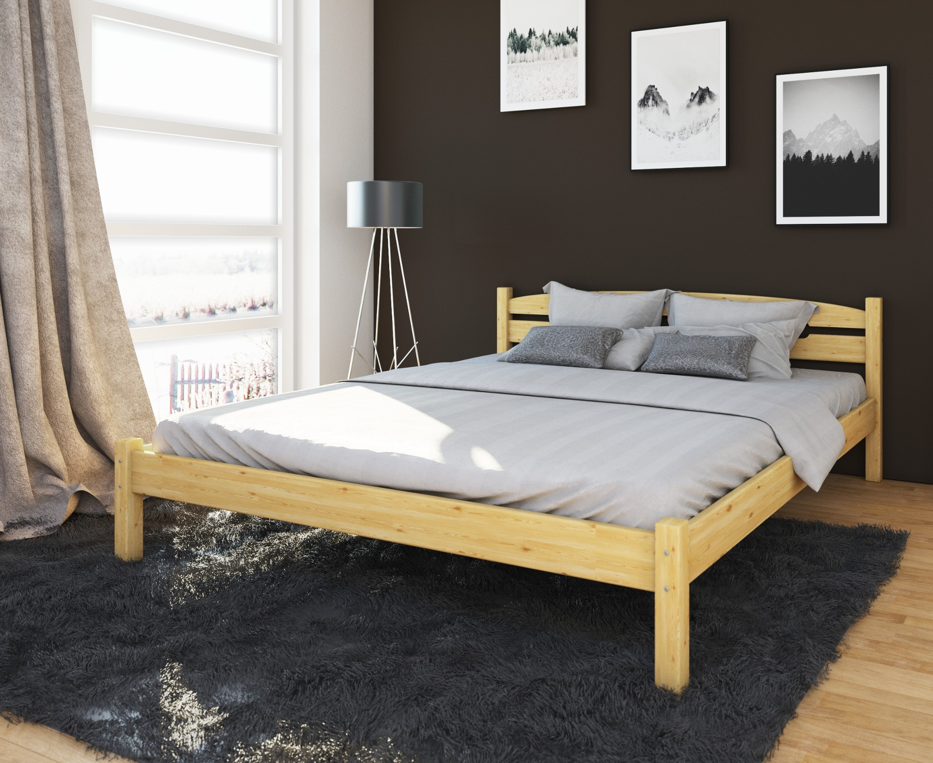 bett doppelbett veton liegefl che 180 x 200 cm. Black Bedroom Furniture Sets. Home Design Ideas