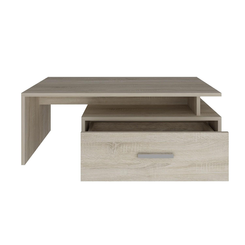 couchtisch padua tischplatte 100 x 60 cm 1 schublade eiche sonoma wohnen couchtische. Black Bedroom Furniture Sets. Home Design Ideas