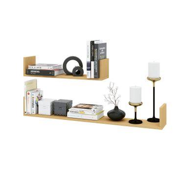 Wandboard BRAGA - 2er Set - 60 und 100 cm breit - Buche