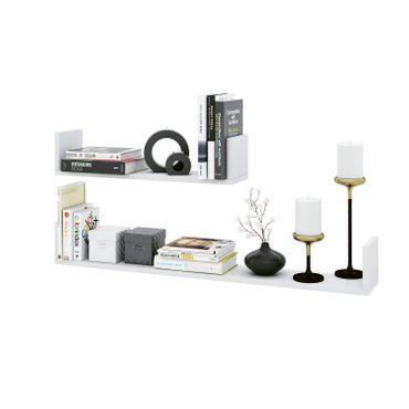 Wandboard BRAGA - 2er Set - 60 und 100 cm breit - Weiß