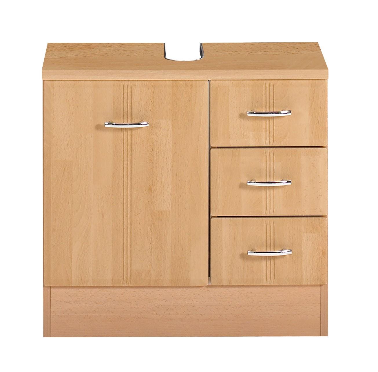 bad waschbeckenunterschrank arta 1 t rig 3 schubladen 60 cm breit buche bad. Black Bedroom Furniture Sets. Home Design Ideas