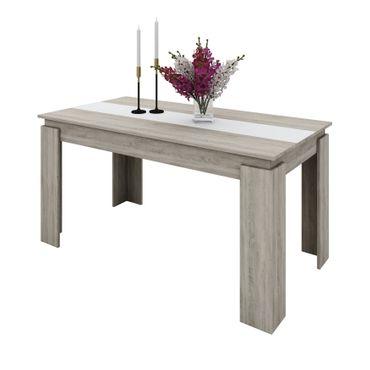 Esstisch TABLO - Tischplatte 150 x 90 cm - Eiche Sonoma / Weiß
