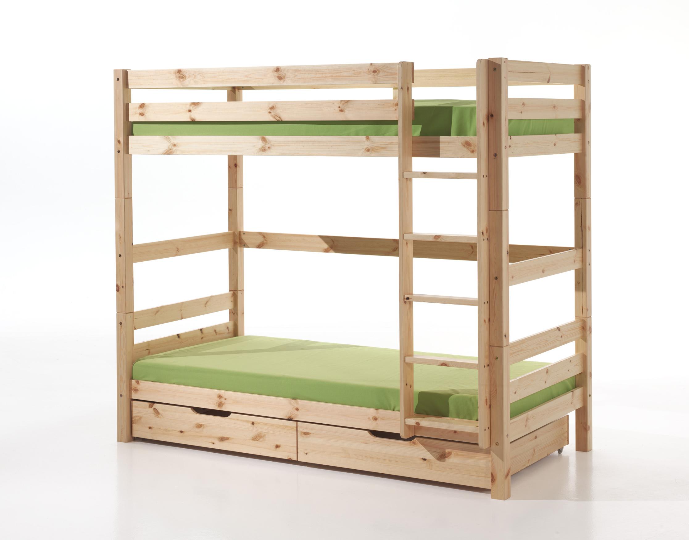 Etagenbett Hoch : Etagenbett pino mit 2 bettschubladen liegeflächen 182 cm