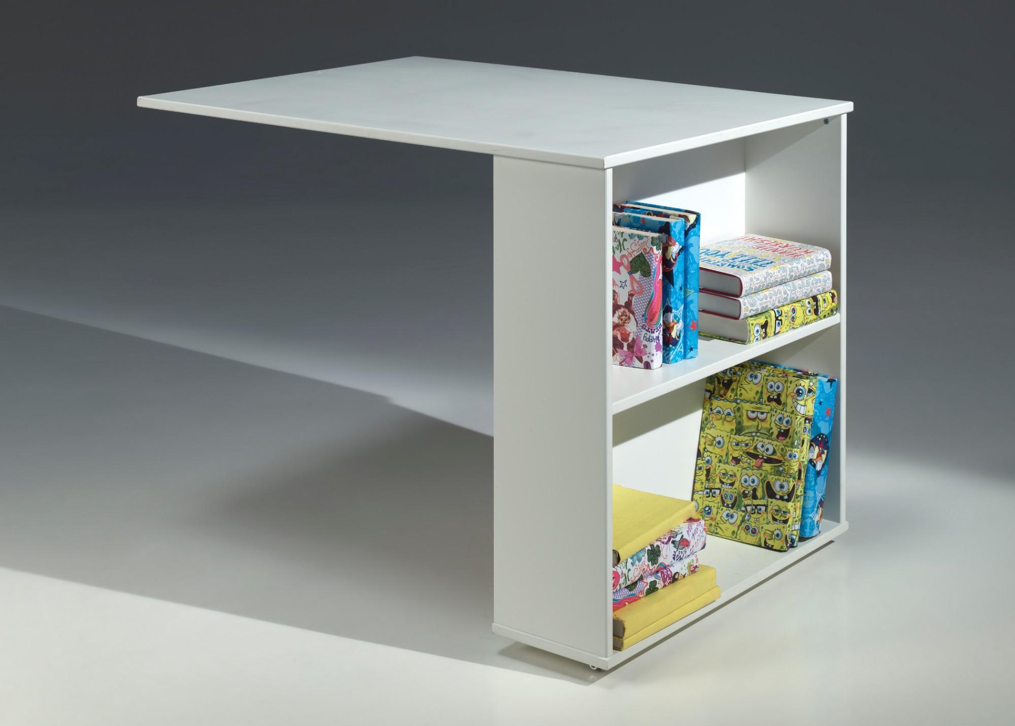 funktions hochbett pino mit schreibtisch und regal kiefer wei teilmassiv kinder. Black Bedroom Furniture Sets. Home Design Ideas
