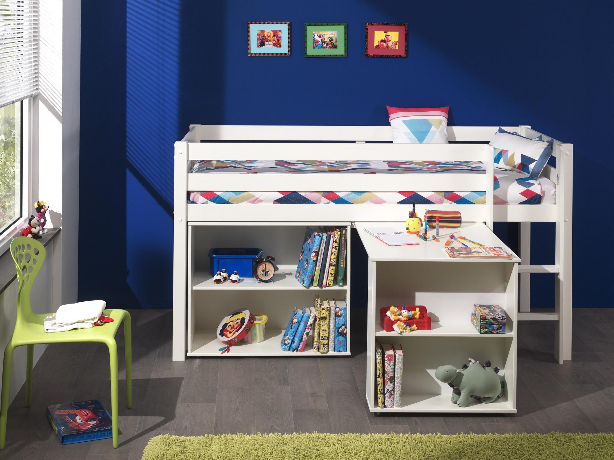 Etagenbett Kinder Spielbett : Spielbett cm trecker grün beige hochbett lilokids weiß