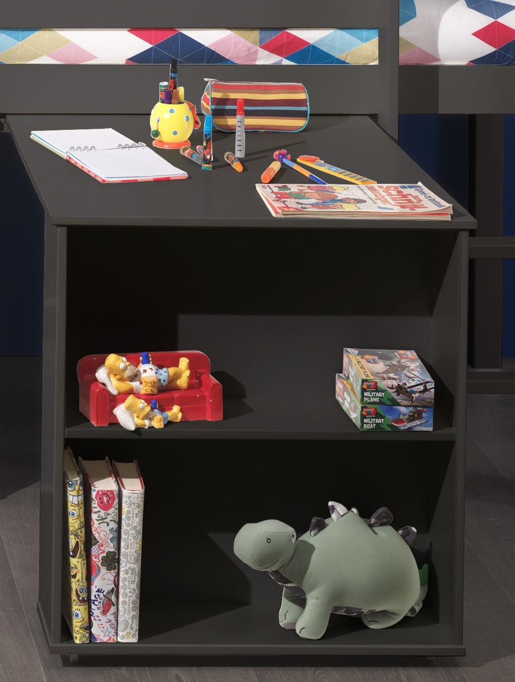 funktionsbett pino hochbett mit schreibtisch und regal. Black Bedroom Furniture Sets. Home Design Ideas