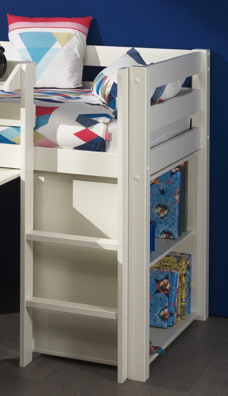 funktions hochbett pino mit schreibtisch und kommode kiefer wei teilmassiv kinder. Black Bedroom Furniture Sets. Home Design Ideas