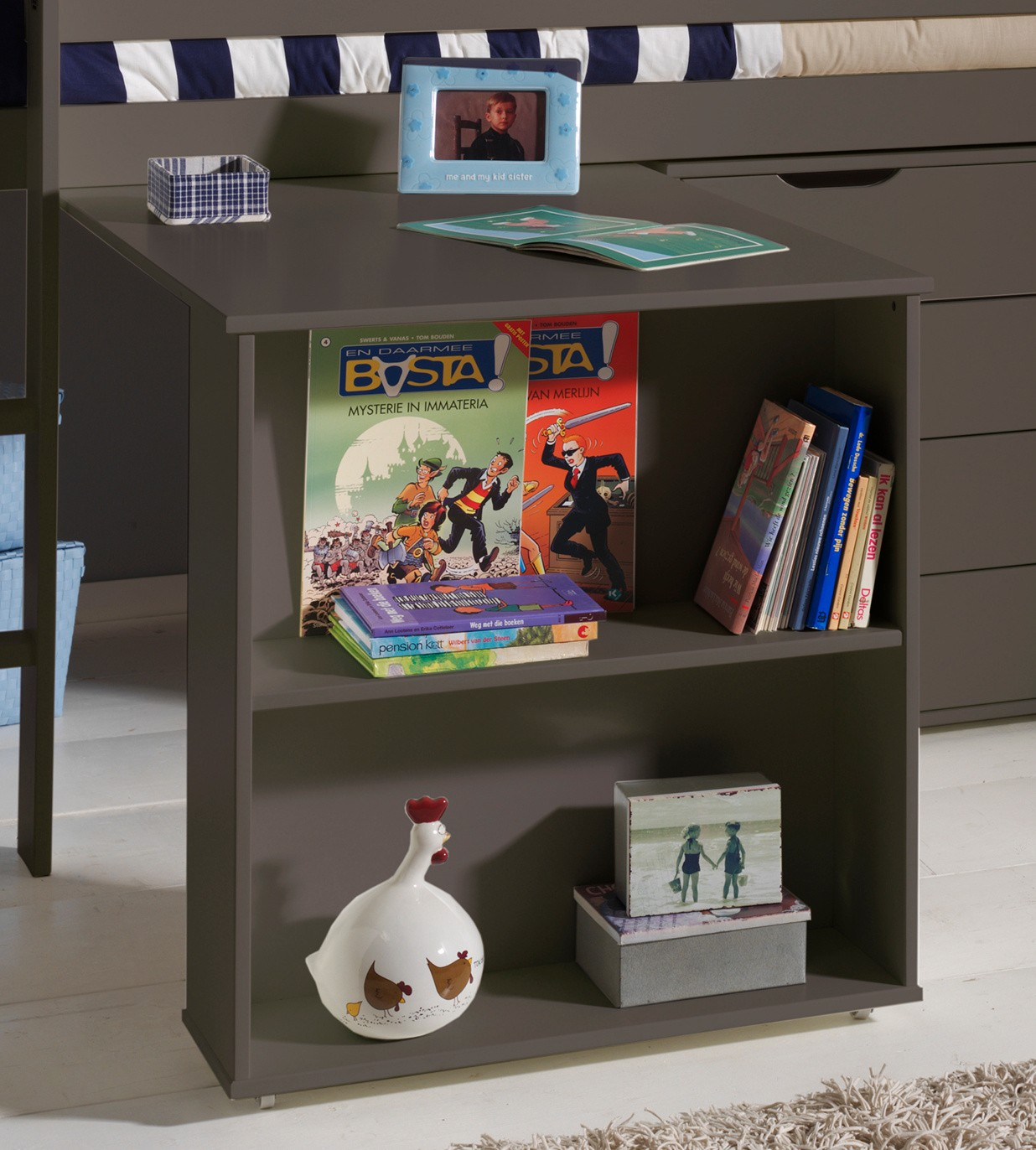funktions hochbett pino mit schreibtisch kiefer anthrazit teilmassiv kinder jugendzimmer. Black Bedroom Furniture Sets. Home Design Ideas