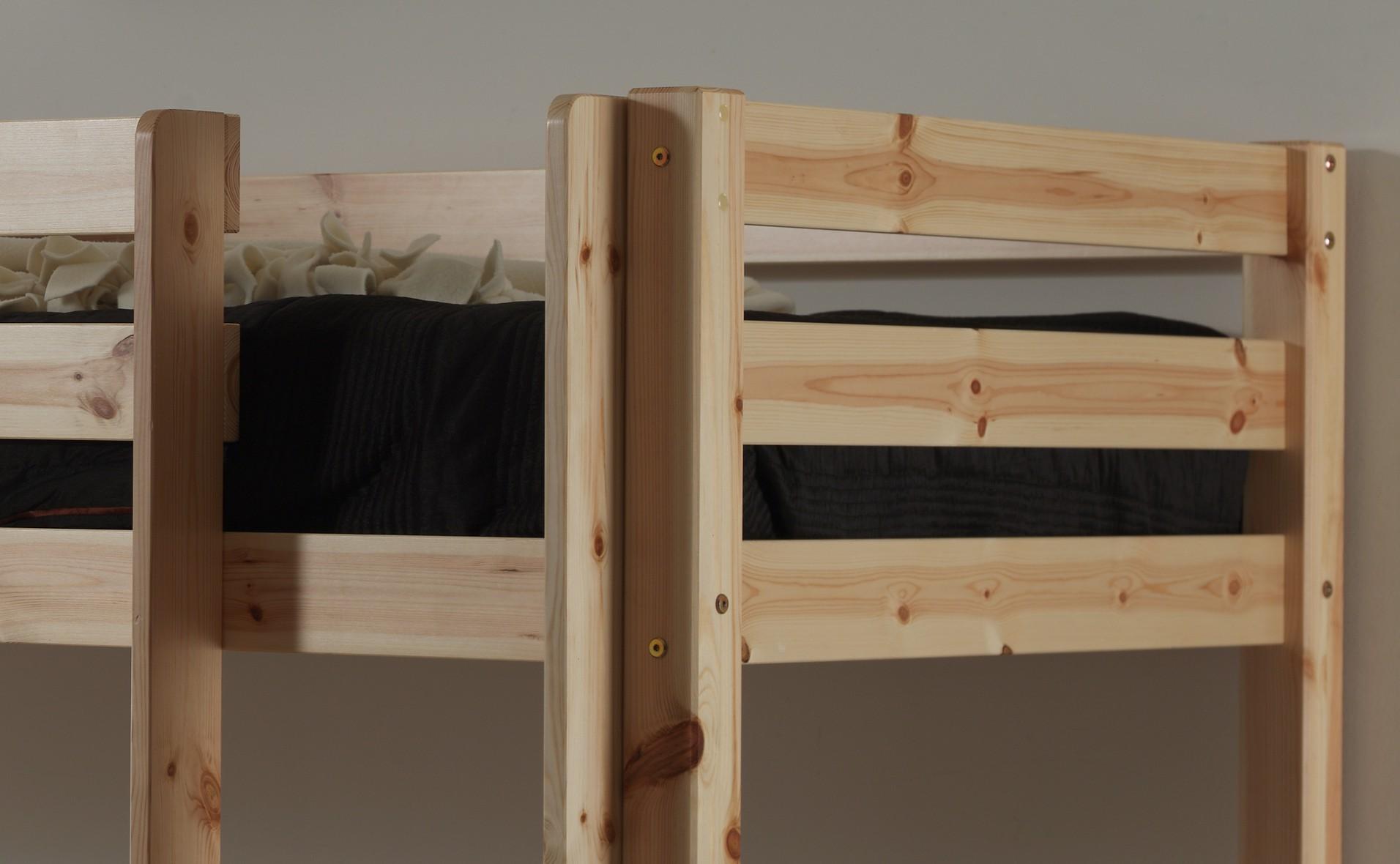 Etagenbett Pino : Etagenbett pino ii kiefer massiv graphit ohne rollschubladen