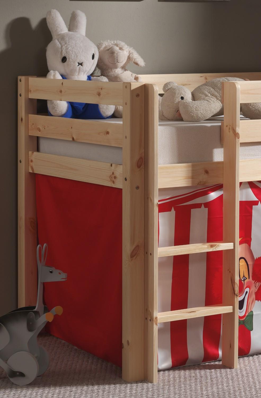 spielbett pino zirkus mit rutsche liegefl che 90 x 200. Black Bedroom Furniture Sets. Home Design Ideas