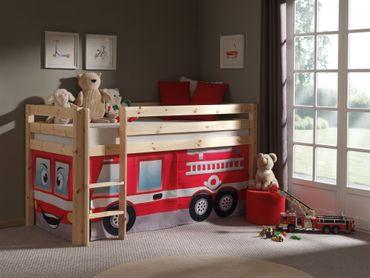 """Spielbett PINO """"Feuerwehr"""" - Liegefläche 90 x 200 cm - Kiefer Massiv"""