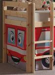 Spielbett PINO  Feuerwehr  - Liegefläche 90 x 200 cm - Kiefer Massiv