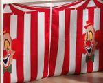 Spielbett PINO  Zirkus  - Liegefläche 90 x 200 cm - Kiefer Weiß Massiv