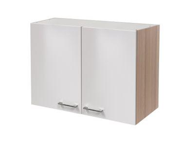 Küchen-Hängeschrank FLORENZ - 2-türig - 80 cm breit - Perlmutt Weiß
