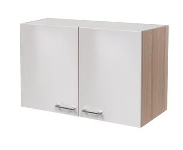Küchen-Hängeschrank FLORENZ - 2-türig - 100 cm breit - Perlmutt Weiß