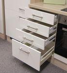 Küchen-Unterschrank FLORENZ - 1 Auszug, 3 Schubladen - 50 cm breit - Perlmutt Weiß