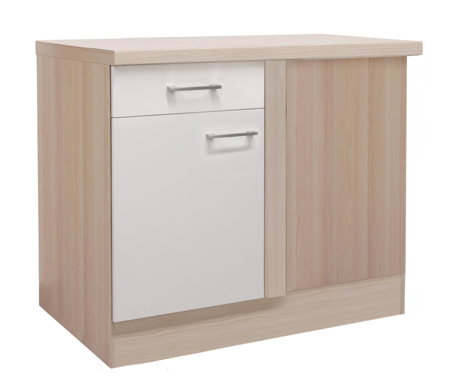 k chen eckunterschrank florenz 1 t rig 110 cm breit perlmutt wei k che k chen unterschr nke. Black Bedroom Furniture Sets. Home Design Ideas