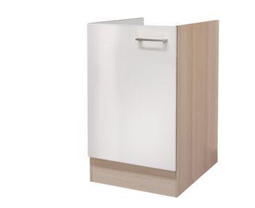 Küchen-Spülenunterschrank FLORENZ - 1-türig - 50 cm breit - Perlmutt Weiß