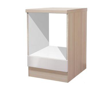Küchen-Herdumbauschrank FLORENZ - 60 cm breit - Perlmutt Weiß