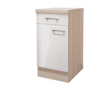 Küchen-Unterschrank FLORENZ - 1-türig - 40 cm breit - Perlmutt Weiß