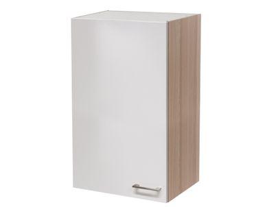 Küchen-Hängeschrank FLORENZ - 1-türig - 60 cm breit, 89 cm hoch - Perlmutt Weiß