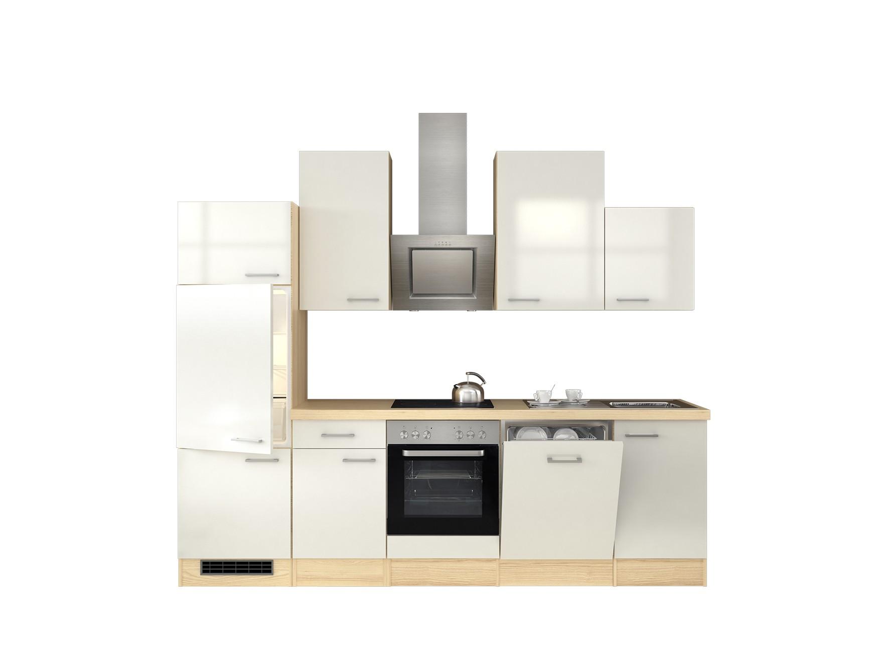k chenzeile florenz k che mit e ger ten 14 teilig breite 280 cm perlmutt wei k che. Black Bedroom Furniture Sets. Home Design Ideas