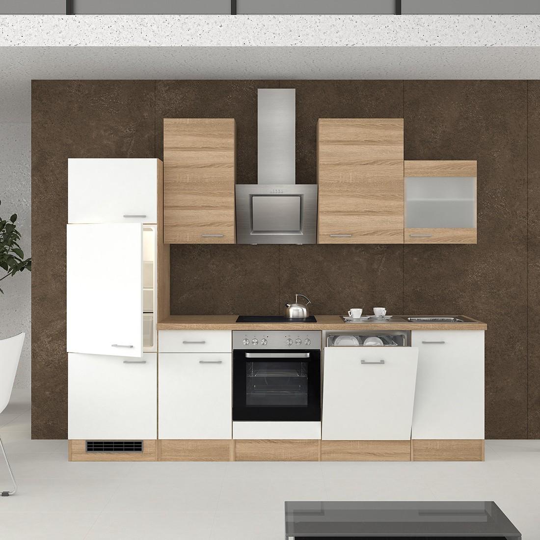k chenzeile rom k che mit e ger ten und glash nger 14. Black Bedroom Furniture Sets. Home Design Ideas