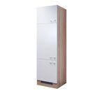 Kühlschrankumbauschrank ROM - incl. Einbau-Kühlschrank - 200 cm hoch - Weiß