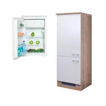 Kühlschrankumbauschrank ROM - incl. Einbau-Kühlschrank - 162 cm hoch - Weiß