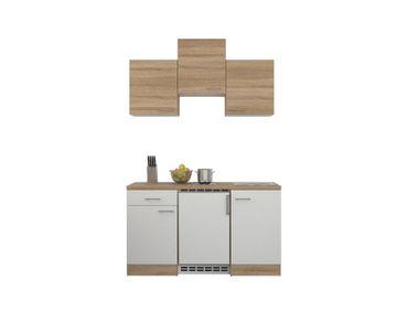Singleküche ROM - mit Elektro-Kochfeld und Kühlschrank - Breite 150 cm - Weiß