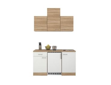 Singleküche ROM - 9-teilig - Breite 150 cm - Weiß
