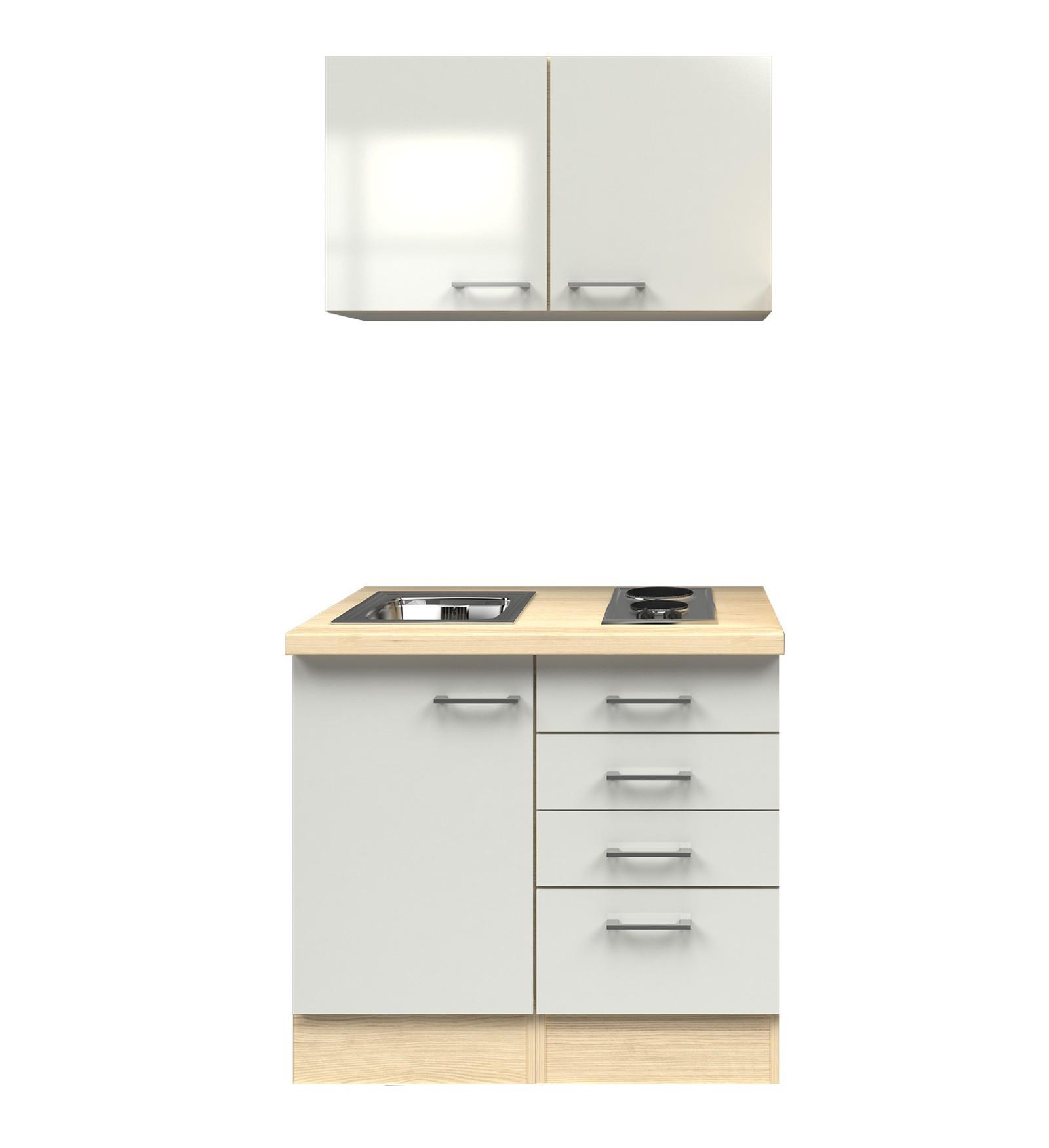 minik che florenz singlek che mit elektro kochfeld 100 cm. Black Bedroom Furniture Sets. Home Design Ideas